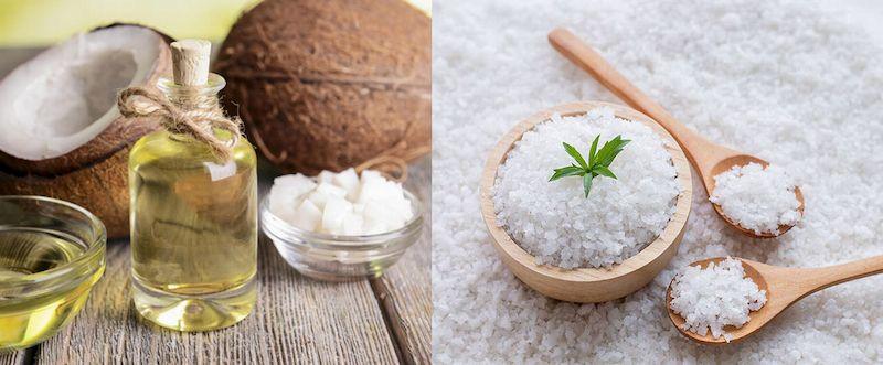 Sử dụng dầu dừa với muối cũng có tác dụng giảm đau nhức hiệu quả