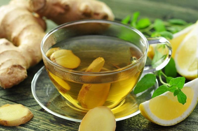 Dùng trà gừng tươi là cách điều trị bệnh rất an toàn
