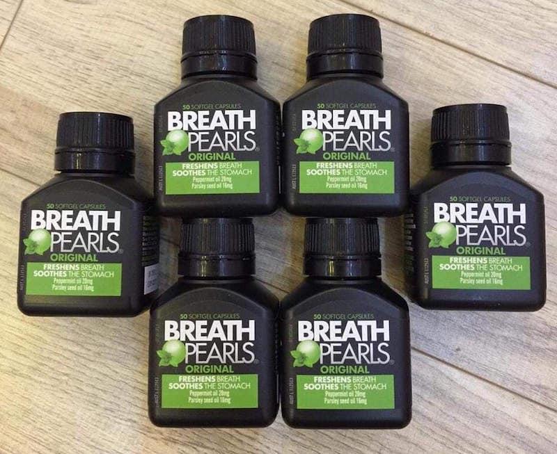 Thuốc Breath Pearls được dùng rất phổ biến và đem lại hiệu quả tức thì
