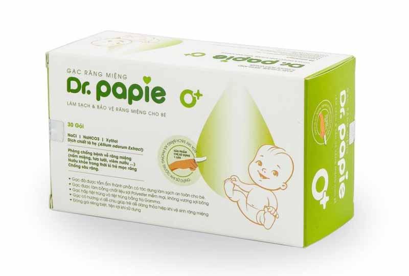 Gạc Dr Papie có tác dụng làm sạch tận sâu bên trong khoang miệng