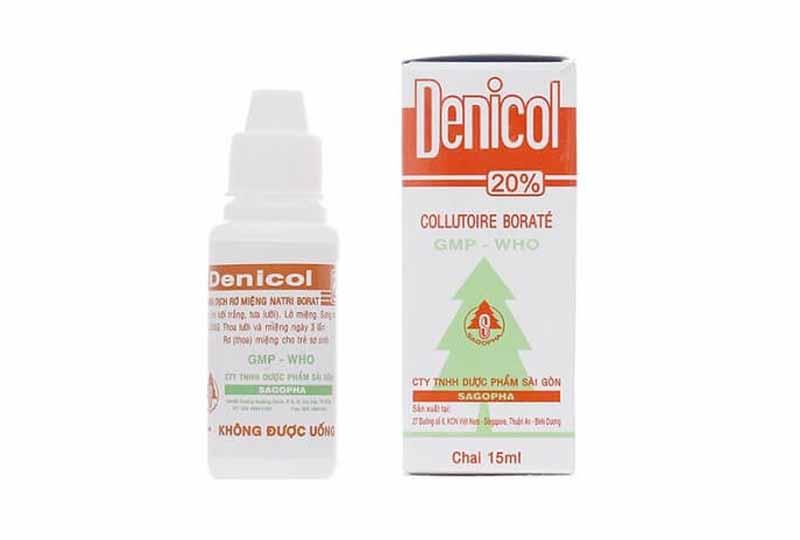 Rơ lưỡi cho trẻ sơ sinh bằng gì? Dung dịch Denicol