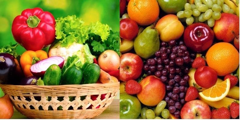 Tăng cường các loại rau xanh, trái cây giàu vitamin