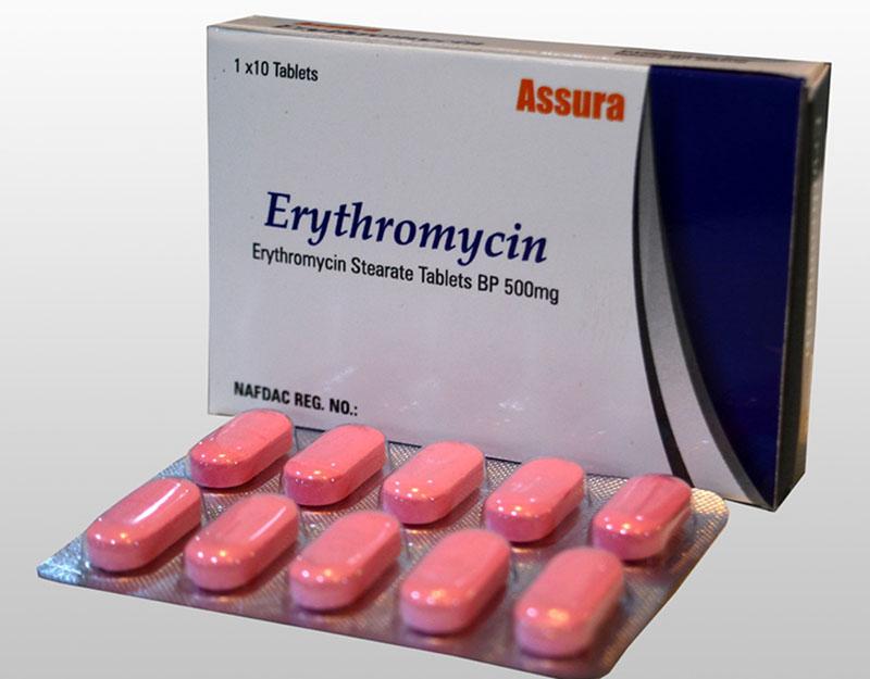 ThuốcErythromycin giúp giảm nhanh cơn đau nhức và sưng tấy khó chịu