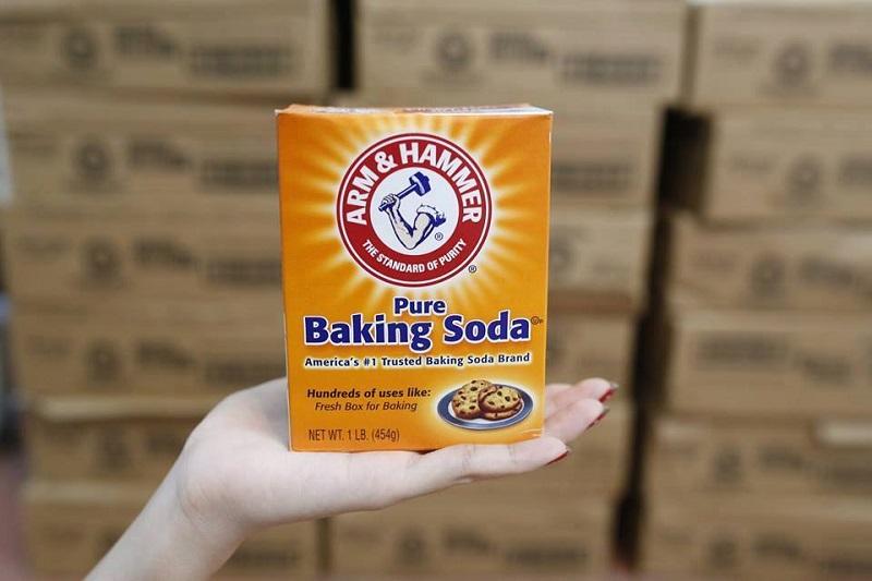 Sử dụng baking soda (natri bicarbonat) là giải pháp mang đến hiệu quả cao